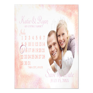 Watercolor Photo Magnetic Save the Date Magnetic Invitations