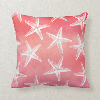 Watercolor Pillow - Guava Starfish