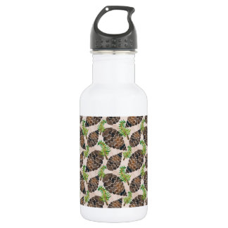 Watercolor Pine Cone Pattern 532 Ml Water Bottle