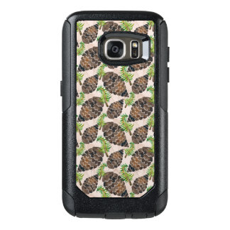 Watercolor Pine Cone Pattern OtterBox Samsung Galaxy S7 Case