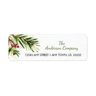 Watercolor Pine Needles Christmas Holiday