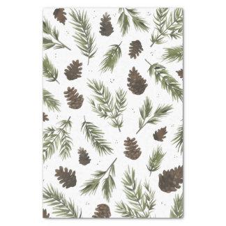 Watercolor Pine Sprigs, tissue paper