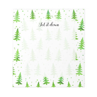 Watercolor Pine Trees Notepad