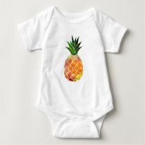 Watercolor Pineapple Baby Bodysuit