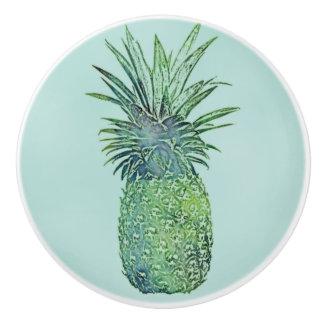 Watercolor Pineapple Ceramic Knob