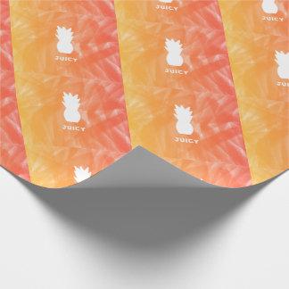 Watercolor pineapple - orange/red