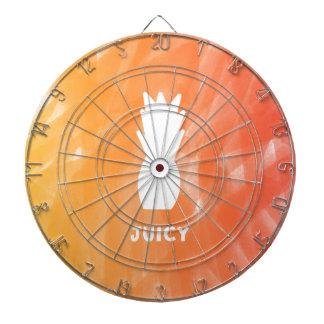 Watercolor pineapple - orange/red dartboard