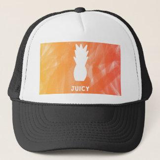 Watercolor pineapple - orange/red trucker hat