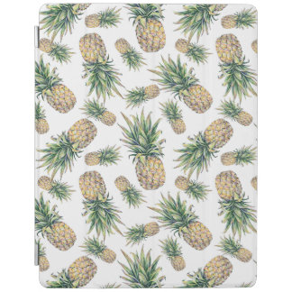 Watercolor Pineapple Pattern iPad Cover
