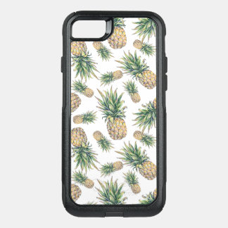 Watercolor Pineapple Pattern OtterBox Commuter iPhone 8/7 Case