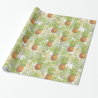 Watercolor Pineapple Pattern Wrapping Paper