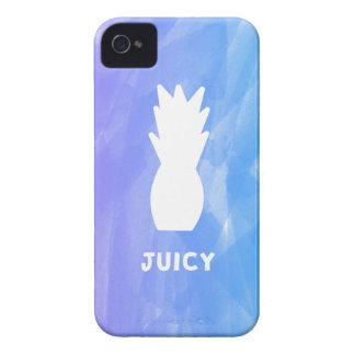 Watercolor pineapple - purple/blue iPhone 4 case