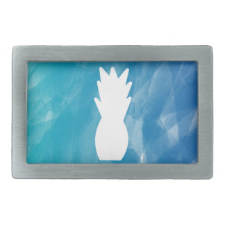 Watercolor Pineapple - teal Belt Buckle