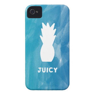 Watercolor Pineapple - teal Case-Mate iPhone 4 Cases