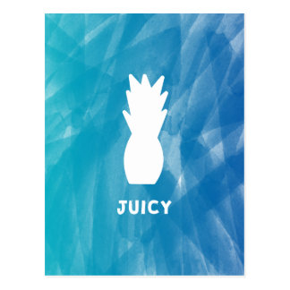 Watercolor Pineapple - teal Postcard
