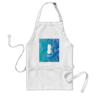 Watercolor Pineapple - teal Standard Apron