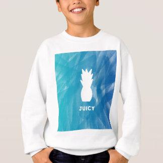 Watercolor Pineapple - teal Sweatshirt