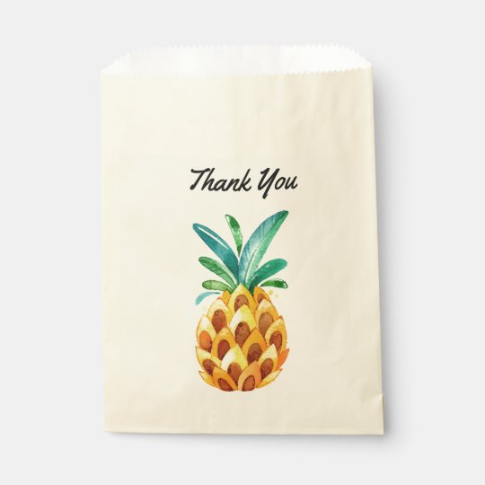 Watercolor Pineapple Thank You Favour Bag