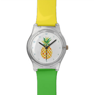 watercolor pineapple watch