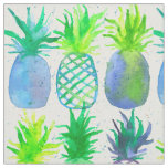 Watercolor Pineapples Fruit Pattern Fabric