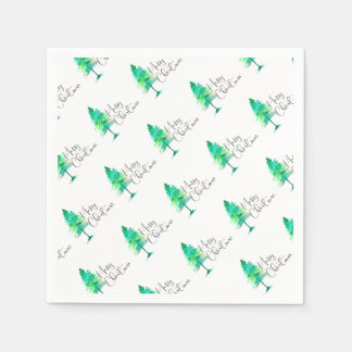 Watercolor-pinetree Paper Napkins