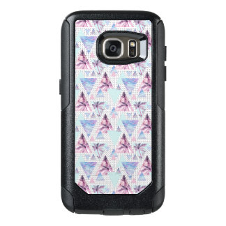 Watercolor Pink & Blue Palm Tree Pattern OtterBox Samsung Galaxy S7 Case