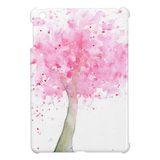 Watercolor Pink Cherry Tree Cover For The iPad Mini