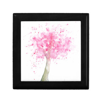 Watercolor Pink Cherry Tree Gift Box