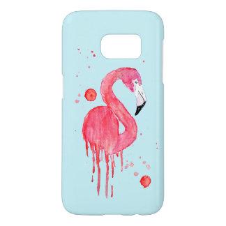 Watercolor Pink Flamingo Samsung Galaxy S7 Case