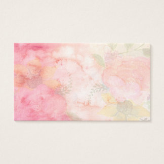 Watercolor Pink Floral Background Business Card