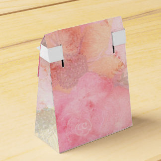 Watercolor Pink Floral Background Favor Box