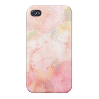Watercolor Pink Floral Background iPhone 4/4S Case