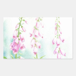 Watercolor Pink Foxgloves