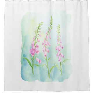 Watercolor Pink Foxgloves