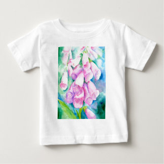 Watercolor pink foxgloves baby T-Shirt