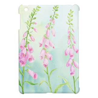 Watercolor Pink Foxgloves Case For The iPad Mini