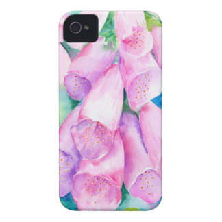 Watercolor pink foxgloves iPhone 4 Case-Mate case