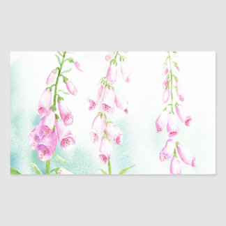 Watercolor Pink Foxgloves Sticker