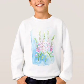 Watercolor Pink Foxgloves Sweatshirt