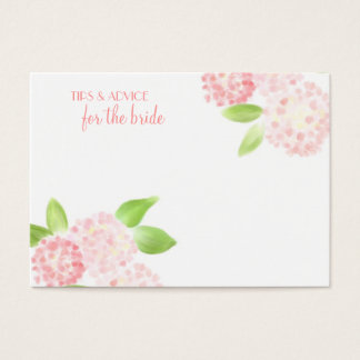 Watercolor Pink Hydrangea Advice Cards