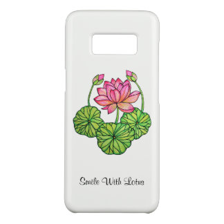 Watercolor Pink Lotus with Buds & Leaves Case-Mate Samsung Galaxy S8 Case