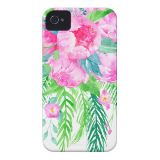 Watercolor Pink Peony bouquet Case-Mate iPhone 4 Case