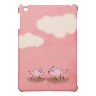 Watercolor Pink Piggies iPad Mini Cases