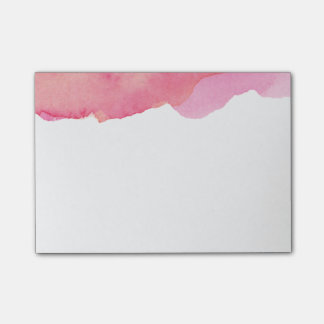 Watercolor pink post it post-it® notes