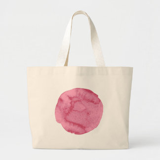 watercolor pink round-05 large tote bag