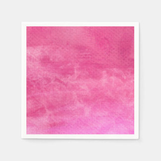 Watercolor Pinks  - All Options Disposable Napkin