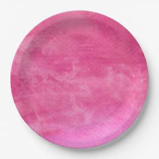 Watercolor Pinks  - All Options Paper Plate