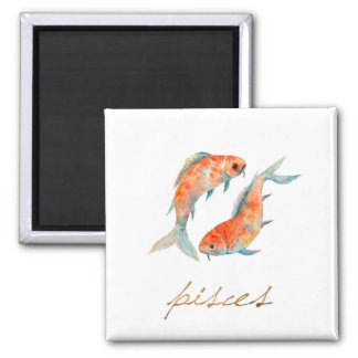 Watercolor Pisces Fish Magnet