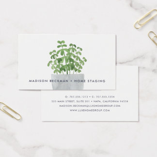 Watercolor Plant Business Card