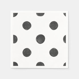 Watercolor Polka Dot Napkins Disposable Napkins